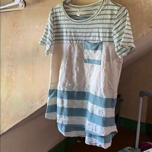 Tops - New Blue and Tan Striped Shirt
